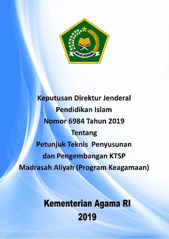 Juknis Pengembangan KTSP MA (Program Keagamaan)