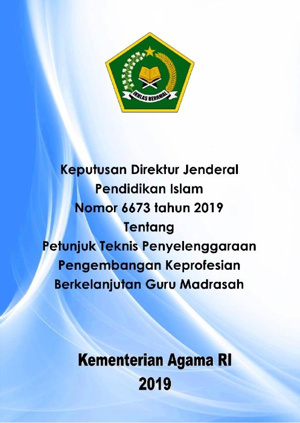 Juknis Pelaksanaan PKB Guru Madrasah Tahun 2019