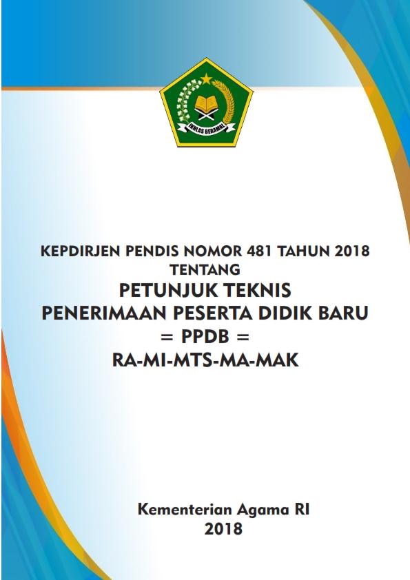 Juknis PPDB Madrasah TP.2018/2019