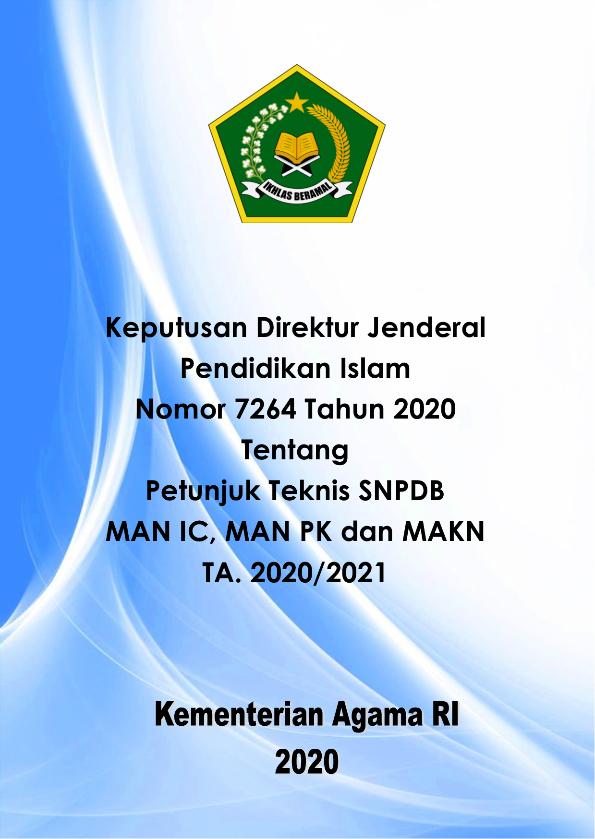 Juknis SNPDB MAN IC, MAN PK dan MAKN TP.2020/2021