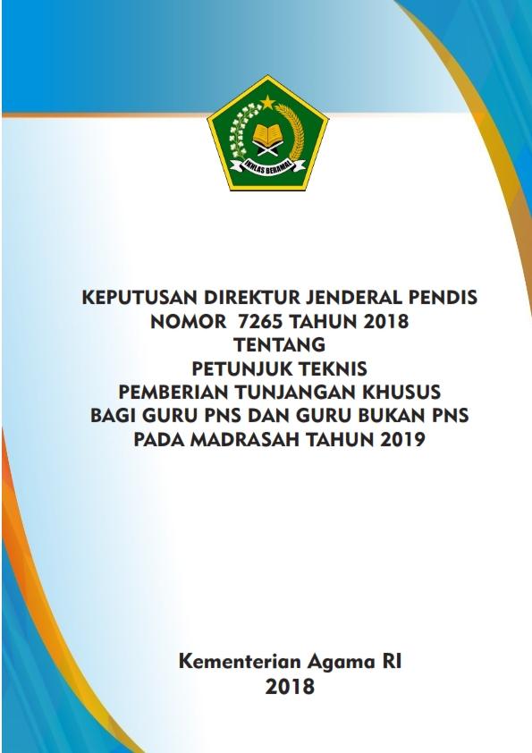 Juknis Pembayaran Tunjangan Khusus Guru Madrasah Tahun 2019