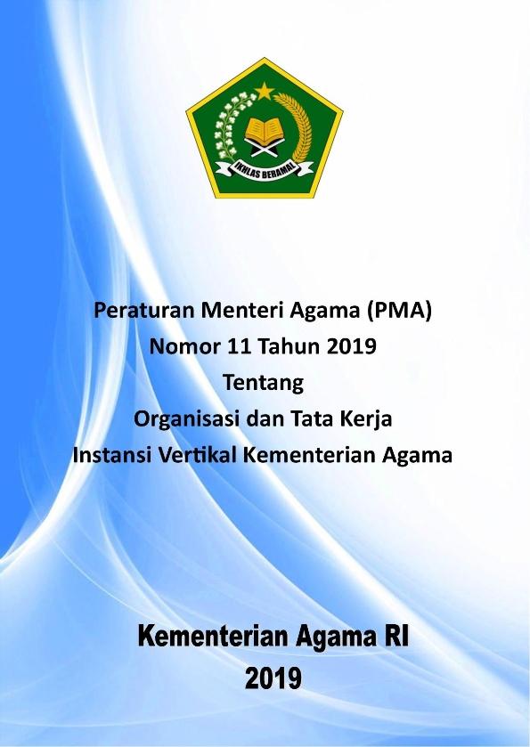 PMA 19/2019 – Ortaker Instansi Vertikal Kemenag