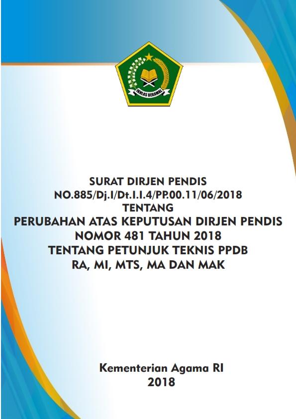 Revisi Juknis PPDB RA, MI, MTs, MA dan MAK TP.2018/2019