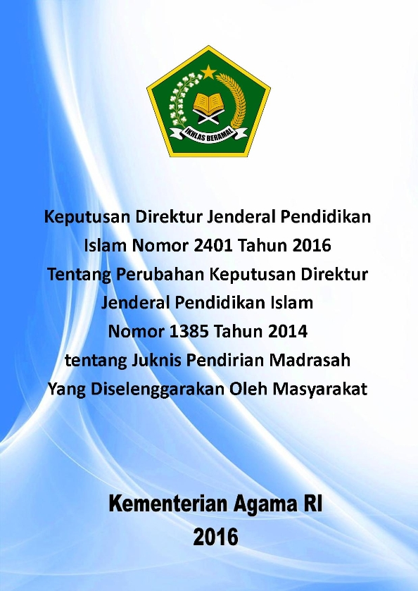 Revisi Juknis Pendirian Madrasah Swasta