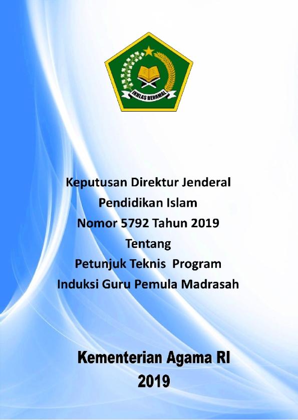 Juknis Program Induksi Guru Pemula Madrasah