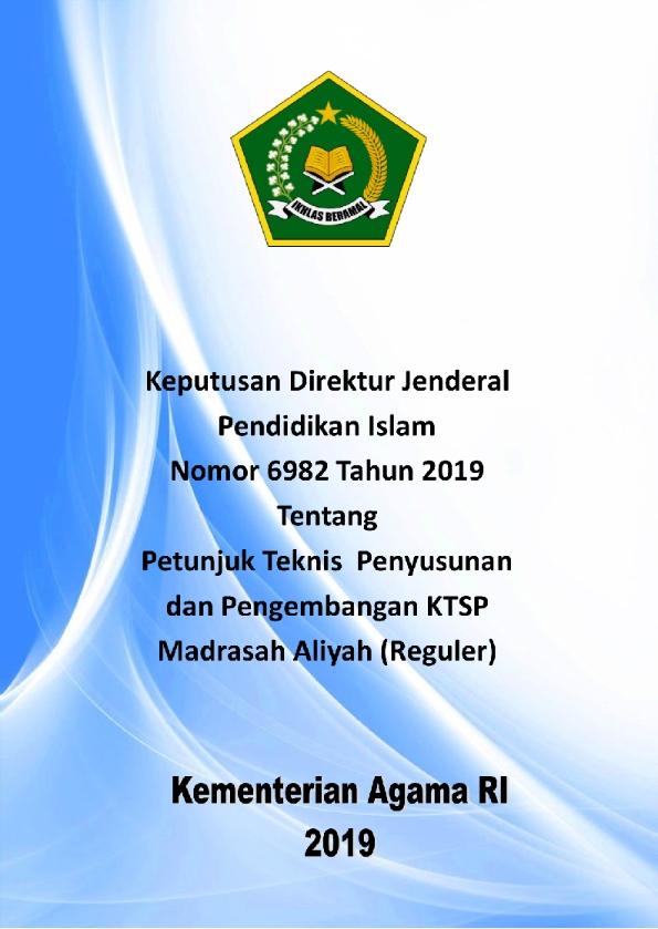 Juknis Pengembangan KTSP pada MA (Reguler)