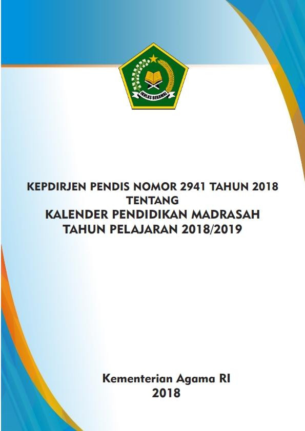 Kalender Pendidikan Madrasah TP.2018/2019