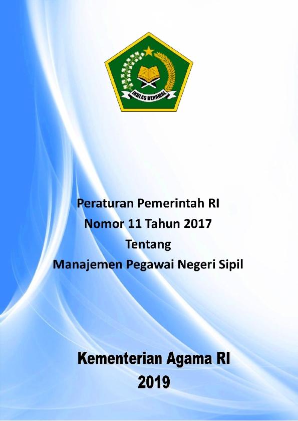 PP 11/2017 tentang Manajemen PNS
