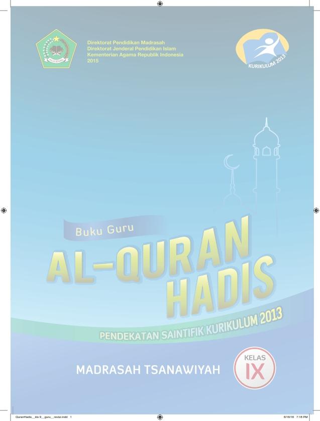 Al-Qur'an Hadits MTs Kelas 9_Guru