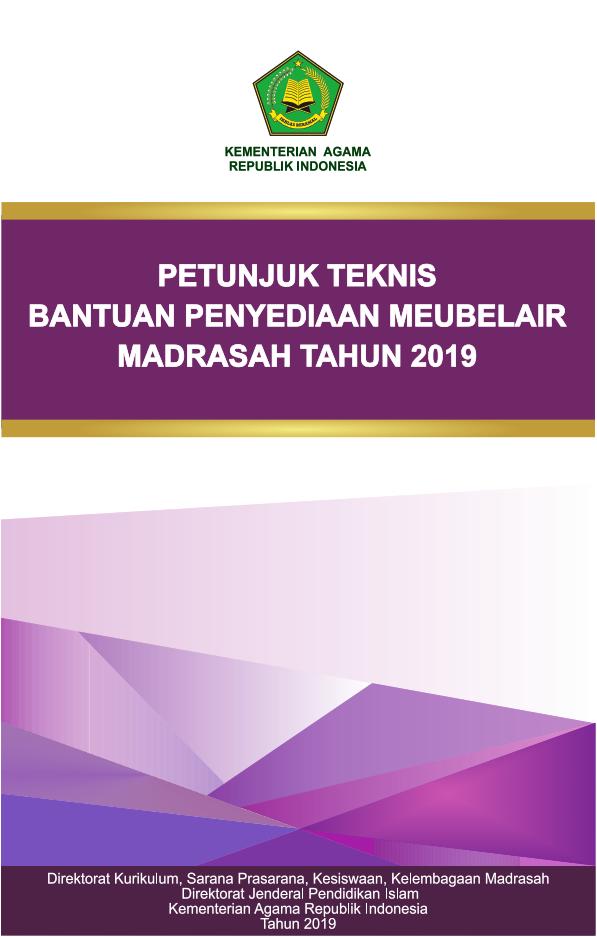 Juknis Bantuan Meubelair Madrasah TA.2019
