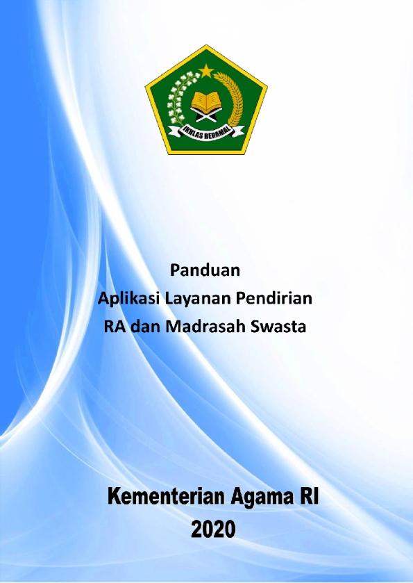Pedoman Aplikasi Pendirian RA dan Madrasah Swasta