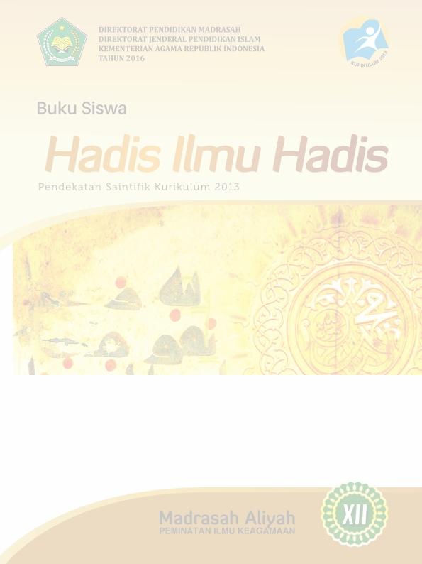 Hadis-Ilmu Hadis MA (Agama) Kelas 12_Siswa