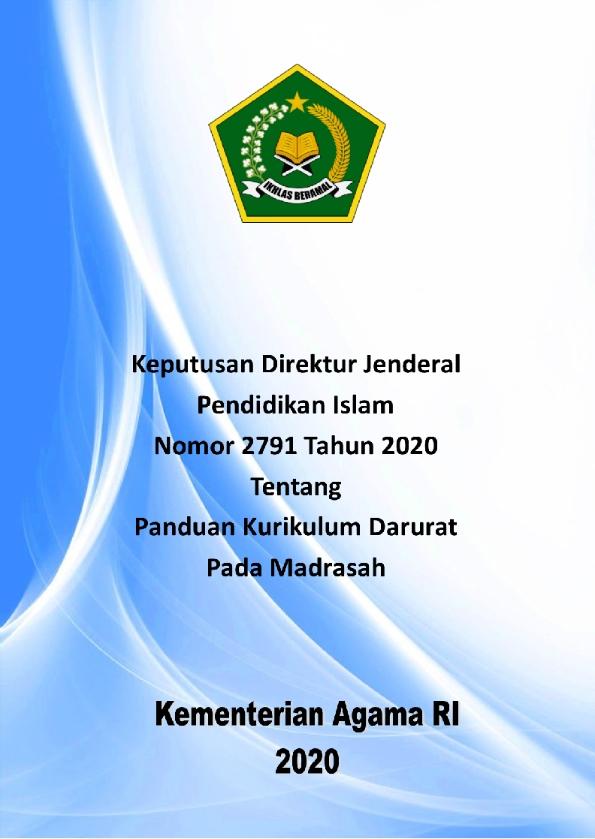 Panduan Kurikulum Darurat Madrasah