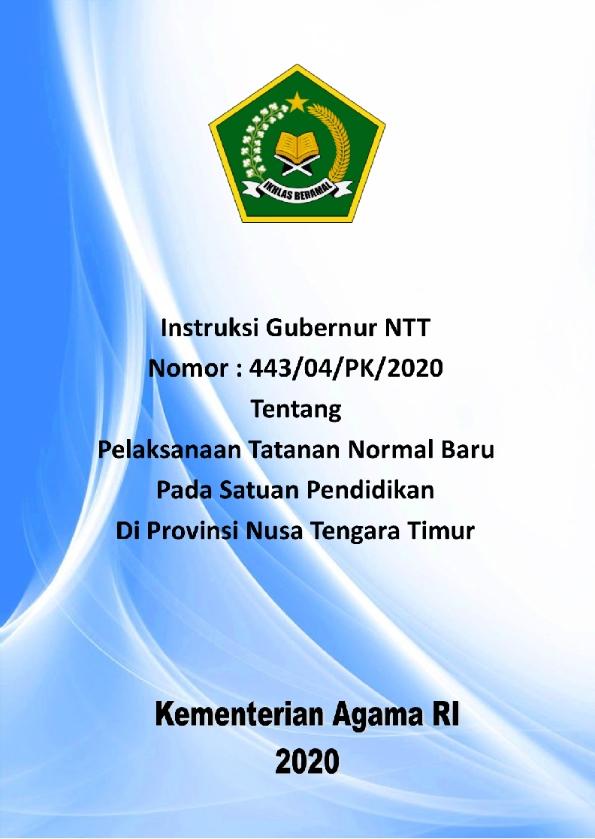Instruksi Gubernur NTT tentang Tatanan Normal Baru di Satuan Pendidikan