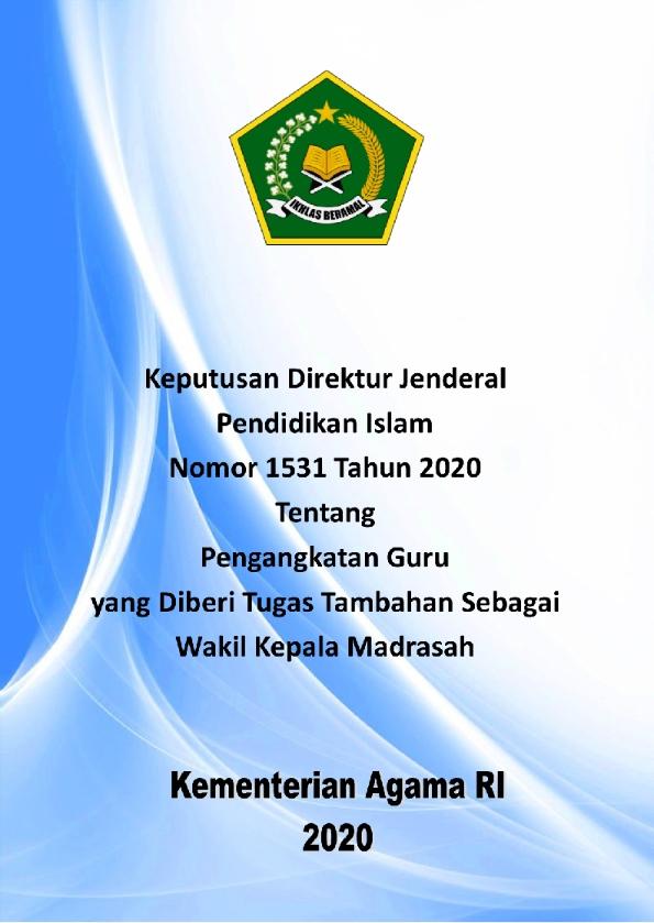 Juknis Pengangkatan Guru sebagai Wakil Kepala Madrasah