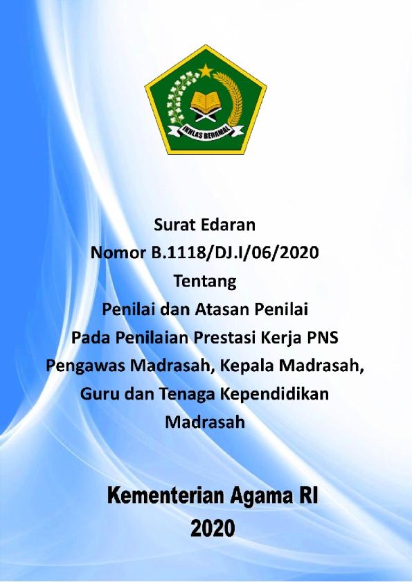 SE Ditjen Pendis Tentang Penilai dan Atasan Penilai pada Penilaian Prestasi Kerja PNS Madrasah