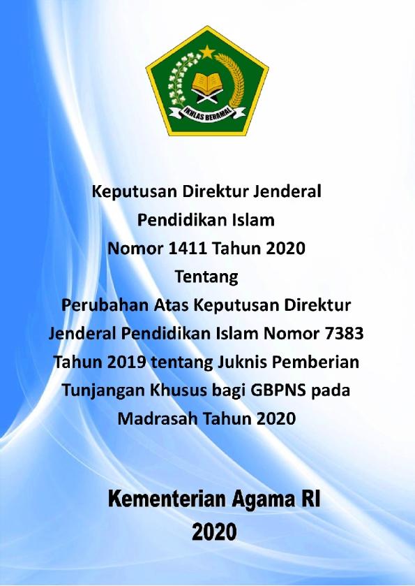 Revisi Juknis Tunjangan Khusus Madrasah Tahun 2020