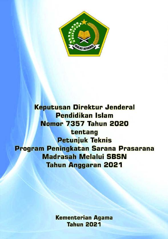 Juknis Sarpras Madrasah melalui SBSN Tahun 2021