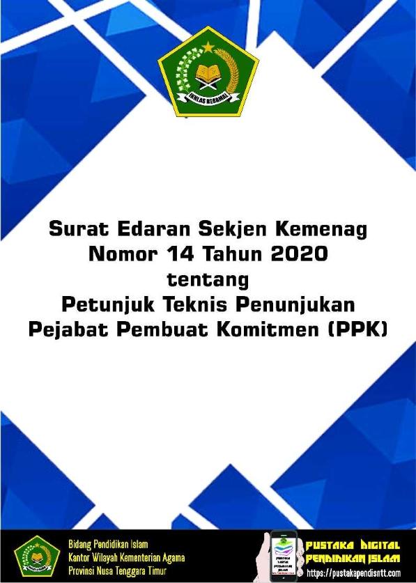SE Sekjen Kemenag No.14/2020 tentang Juknis Penunjukan PPK