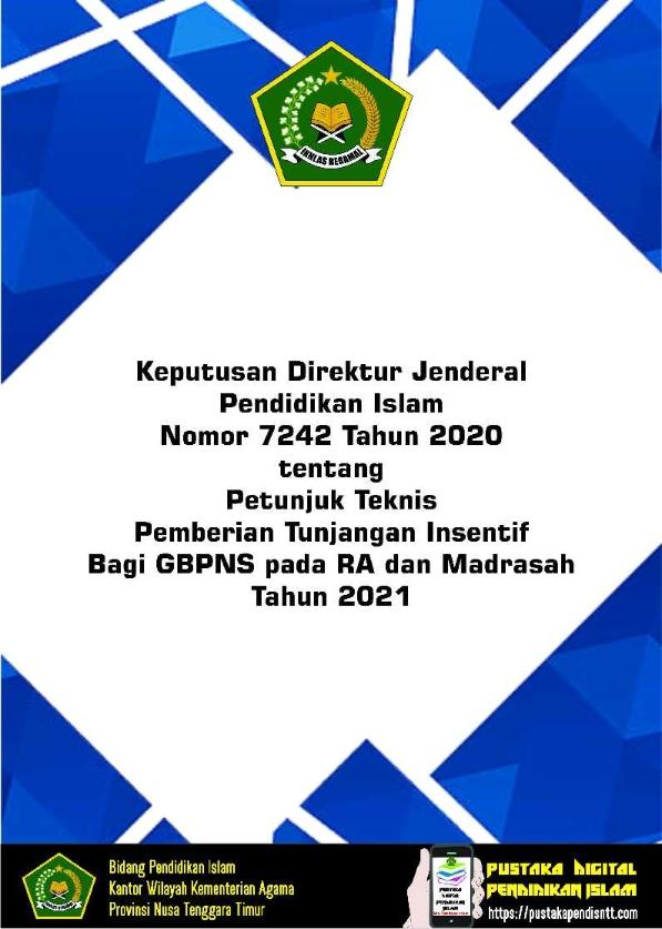 Juknis Insentif GBPNS RA Madrasah Tahun 2021
