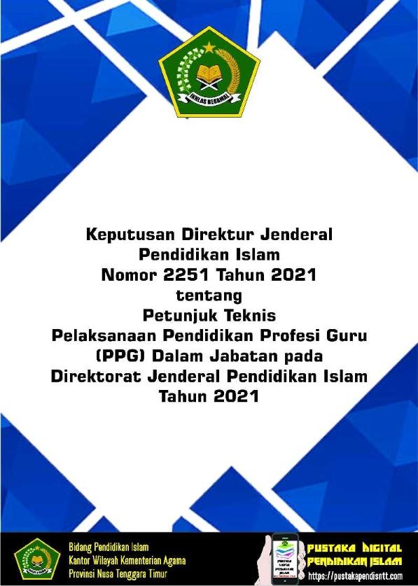 Juknis Pelaksanaan PPG Daljab Tahun 2021