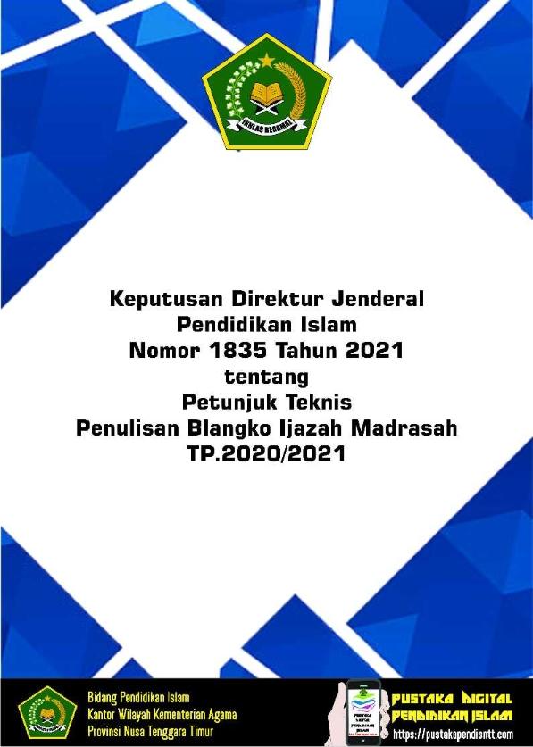 Juknis Penulisan Blangko Ijazah Madrasah TP.2020/2021