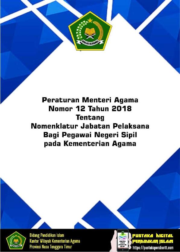 PMA 12/2018 tentang Jabatan Pelaksana PNS Kemenag