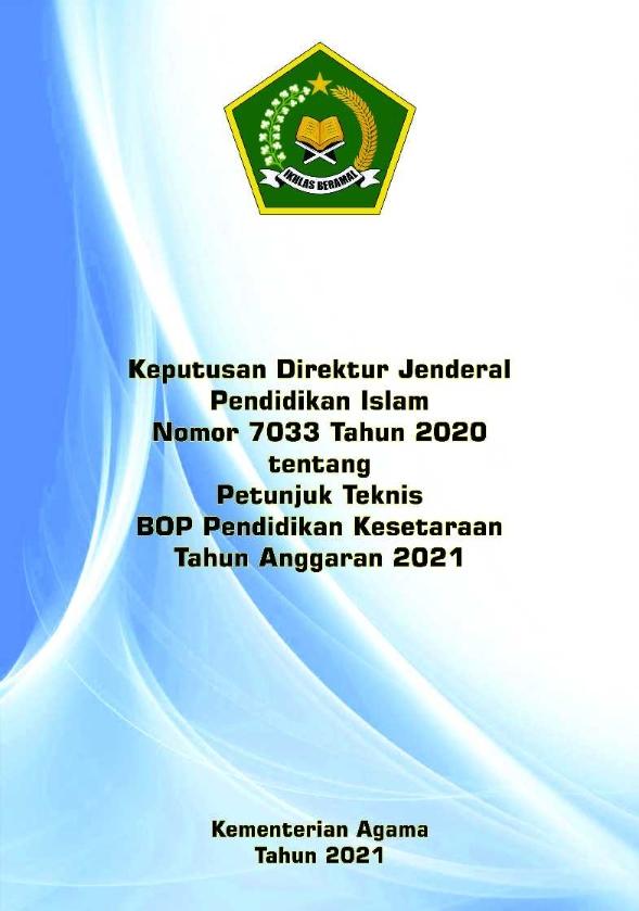 Juknis BOP Pendidikan Kesetaraan TA.2021