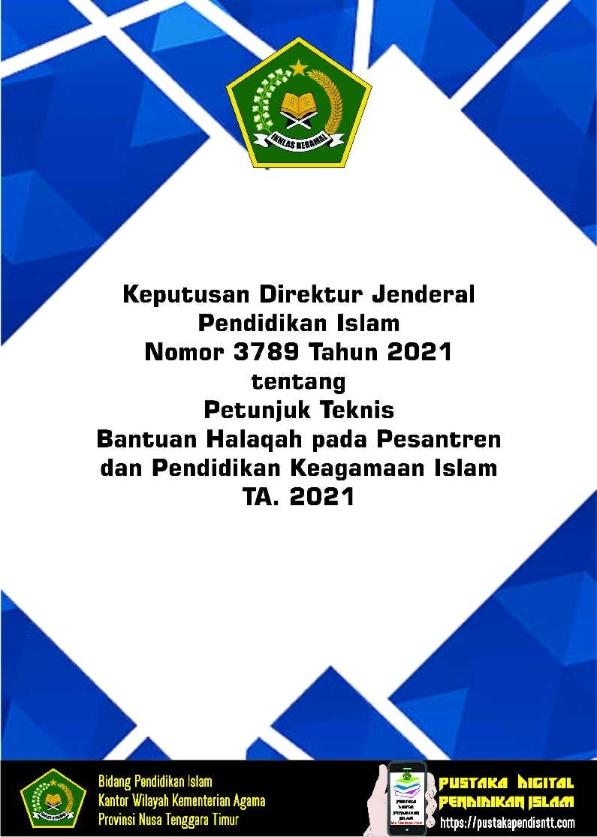 Juknis Bantuan Halaqah Pesantren TA. 2021