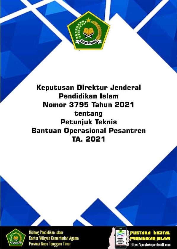 Juknis Bantuan Operasional Pesantren TA.2021
